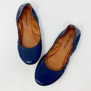 Lucky Brand Emmie Navy Blue Ballet Flat 9.5